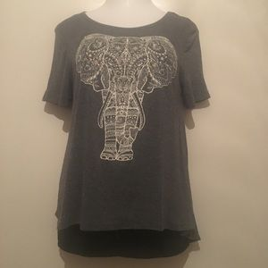 Cute sequin elephant top with lace detail back
